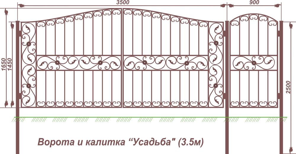 Размеры калитки в автоматических воротах