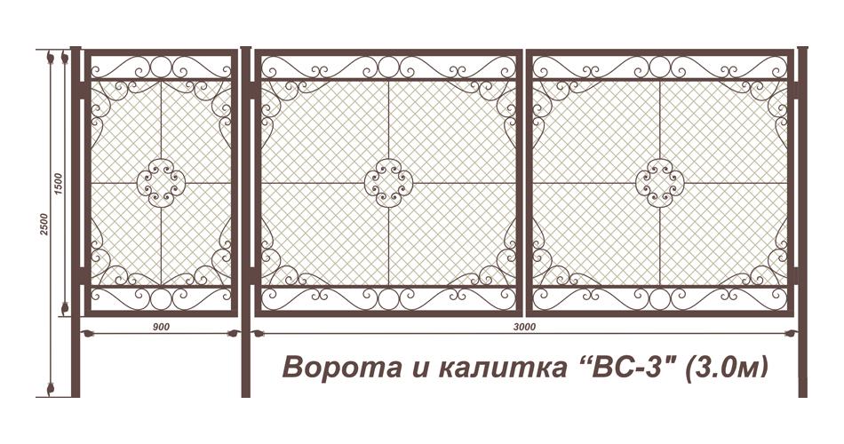 Схема навесов для ворот